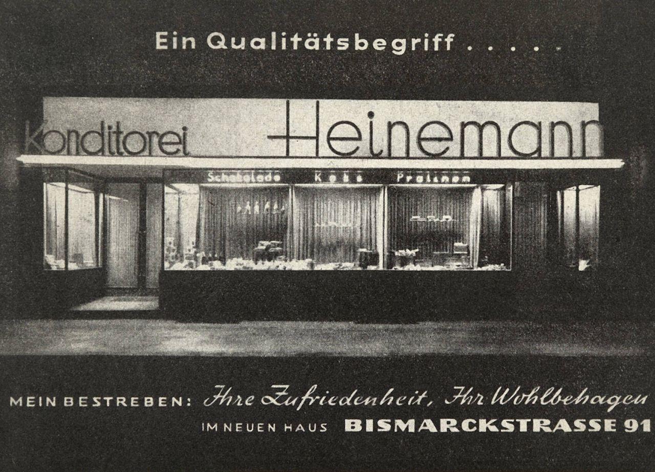 Bismarckstraße Mönchengladbach konditorei heinemann die geschichte heinemann confiserie